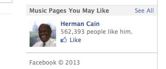 """""""Musician Herman Cain"""""""